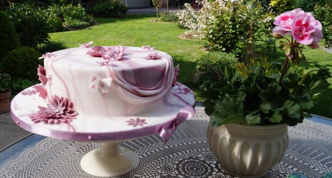 Torte Schmetterlingsschwarm°Fondant