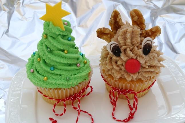 Cupcake °Tannenbaum großer Stern & ° Rentier Franzerl
