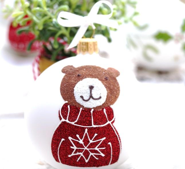Tischdekoration Weihnachten °Weihnachtskugel Bär