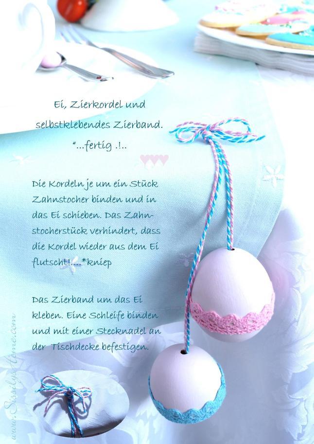 Ostertisch °Eier & Zierband