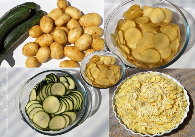 Zucchini-Kartoffel-Gratin °vegetarisch