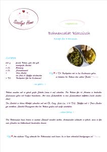 Rezept Bohnensalat °vegetarisch