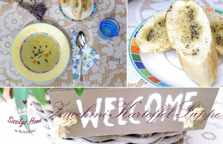 Titelbild Zucchini-Kartoffel-Suppe mit Schmand
