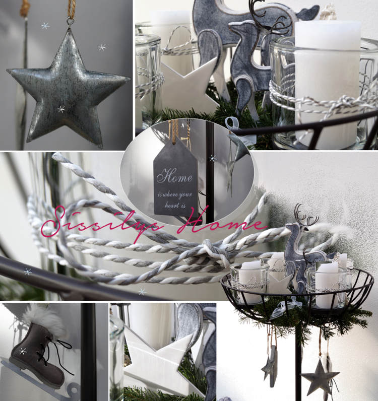 Collage Adventskranz Hirsch