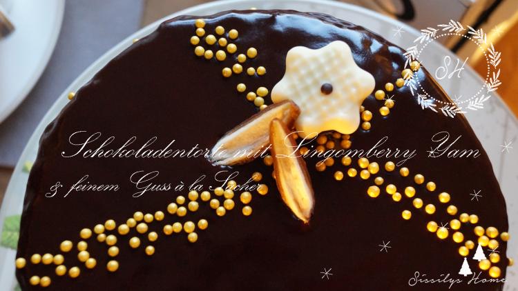 Titelbild Schokoladentorte mit Lingomberry Yam und feinem Guss à la Sacher