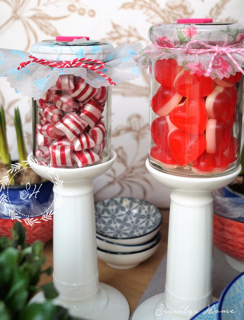 Valentinstag DIY Bonbon Und Herzen Im Glas