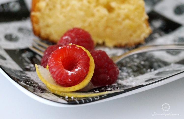 Zitronenkuchen Himbeere