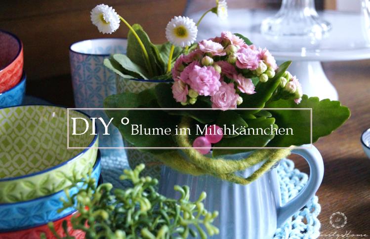 Blume in Milchkännchen #DIY